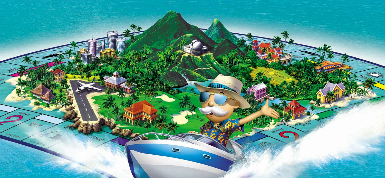 Rick Grayson Illustration Mr Monopoly_island Game Box Cover