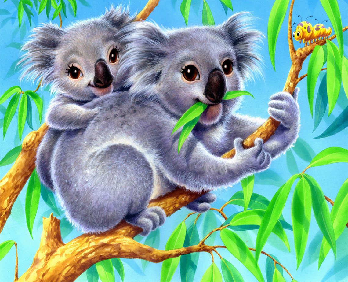Rick Grayson_Animals_Koalas eating Eucalyptus
