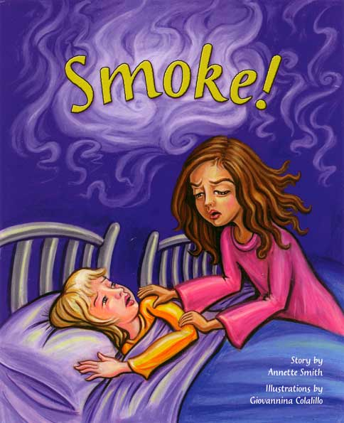 Smoke!, book cover - blind girl saves friend from fire