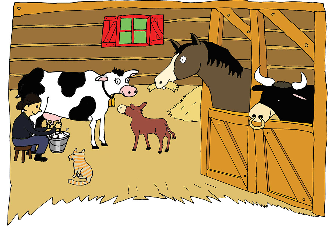Taylor Lee_Illustration_Animals and Nature_Barn animals