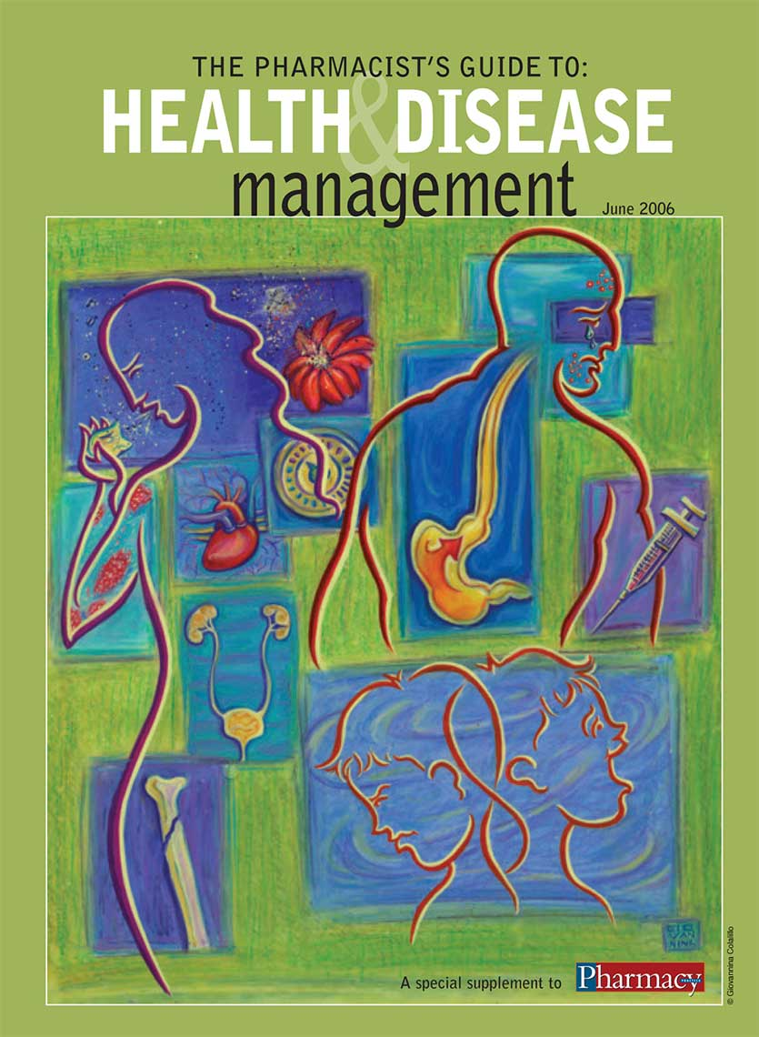 The Pharmacists Guide to Health Disease Management Cover of a special supplement to Pharmacy Post Magazine