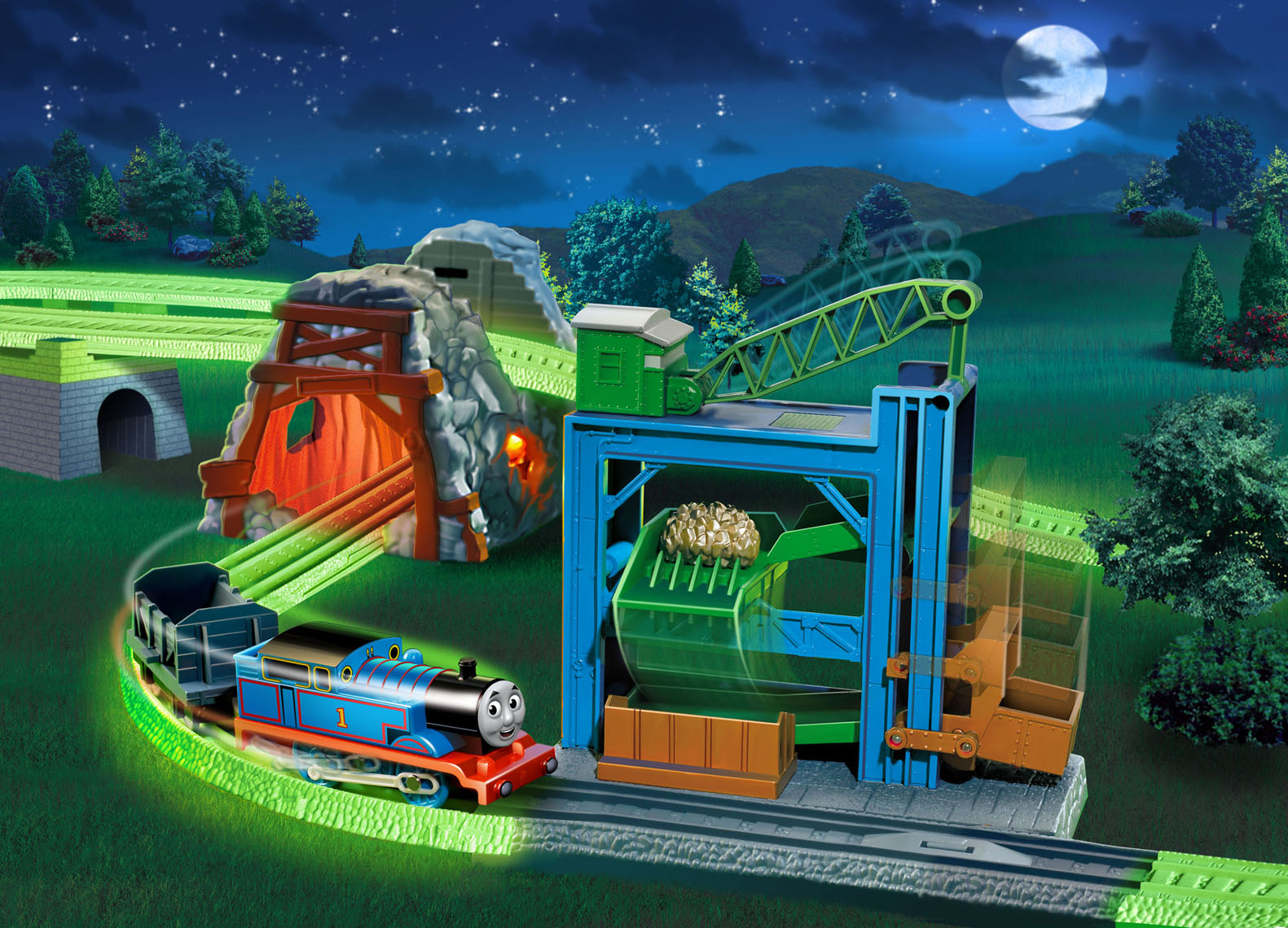 Thomas the tank engine midnight ride