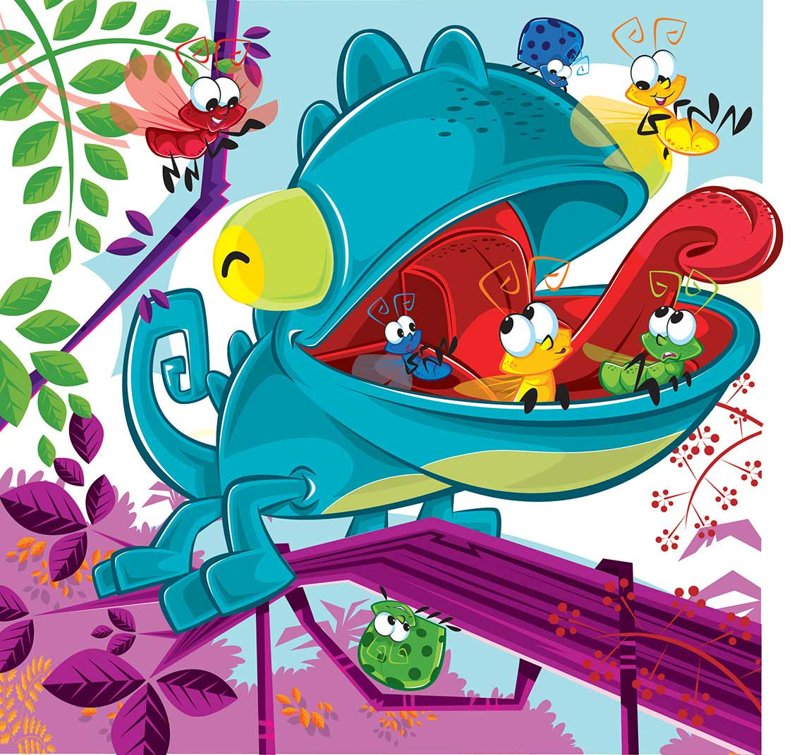 Vector-Kids-Game-Packaging-Artwork_Chameleon-Crunch-Package-Art