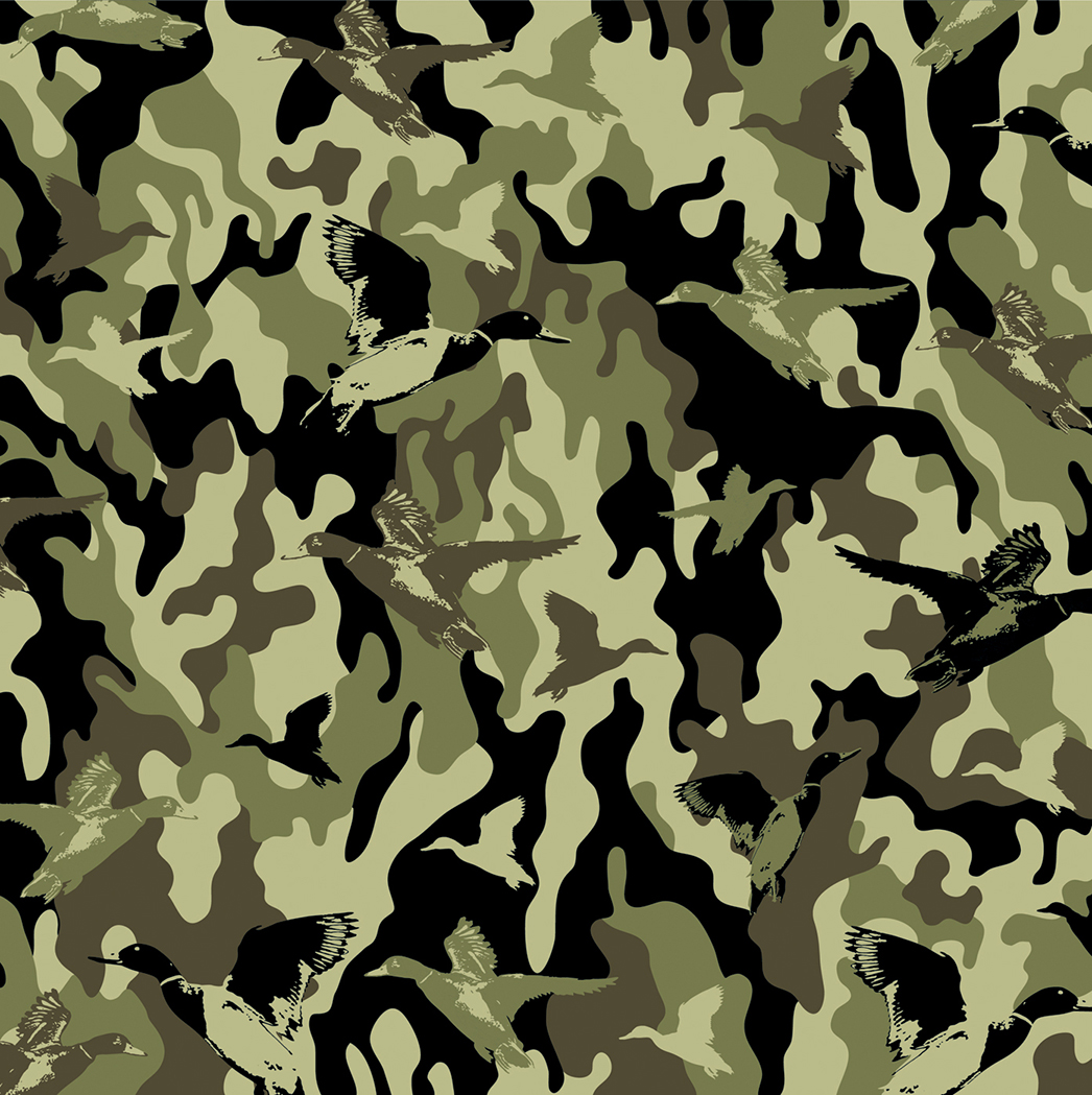 Vector illustration fabric camouflage repeat design DuckDynasty