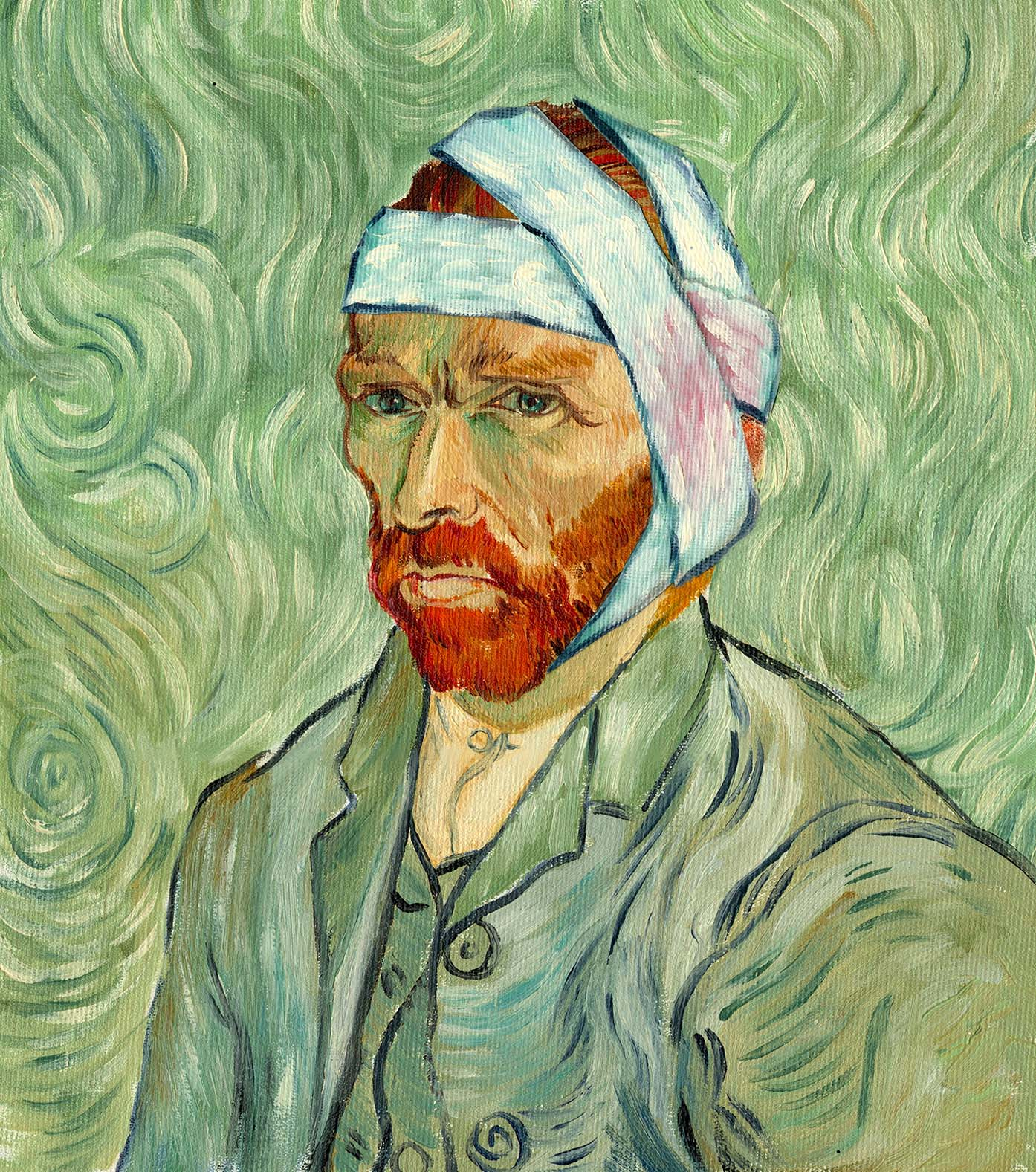 VanGogh Vincent with bandage on head