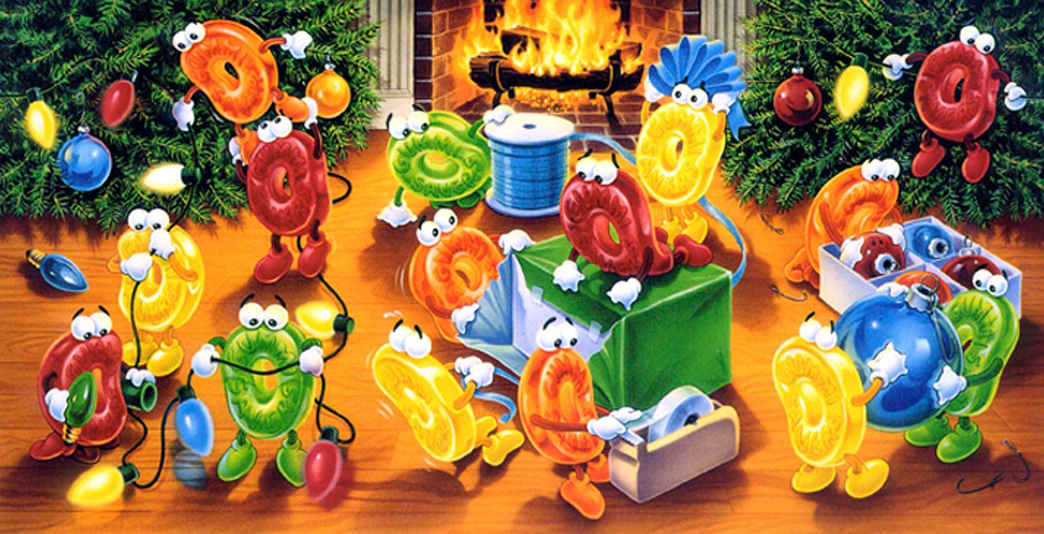 animated-lifesavers-decorating-a-christmas-tree