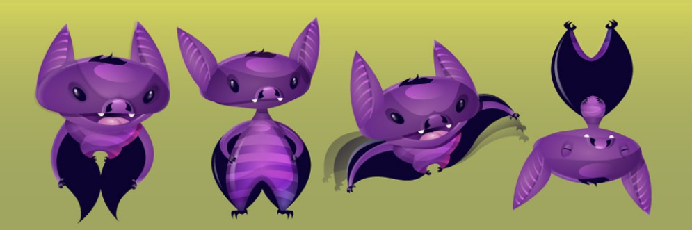 purple little creatures
