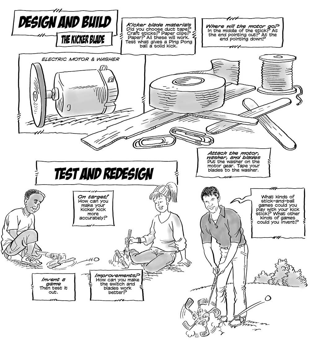 build-auto-golf-machine-process-infographic-drawings