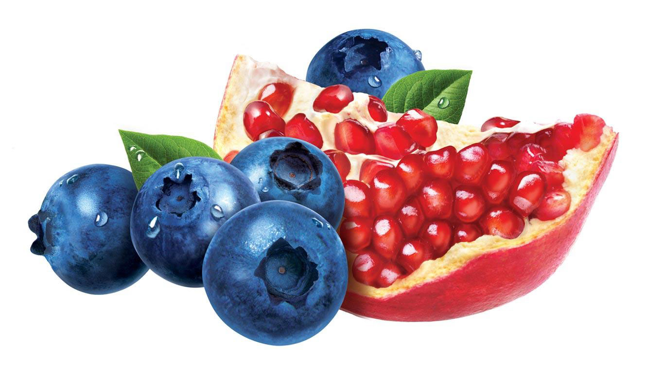 cgi-illustration-Products and Still Life_Blueberries and pomegranate
