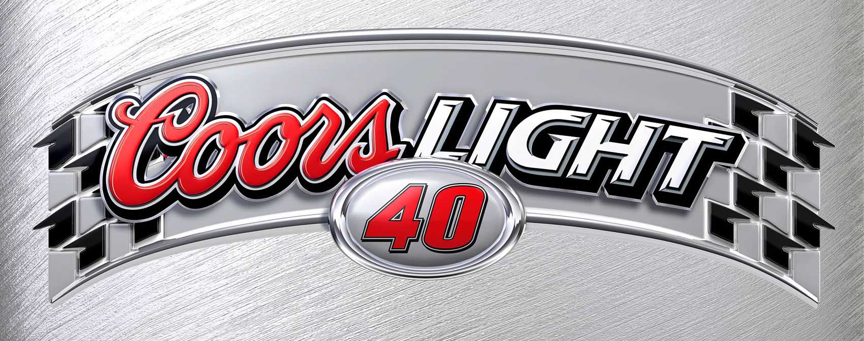 cgi-illustration-Still-Life products Coors-Light-brushed-chrome-nascar-logo