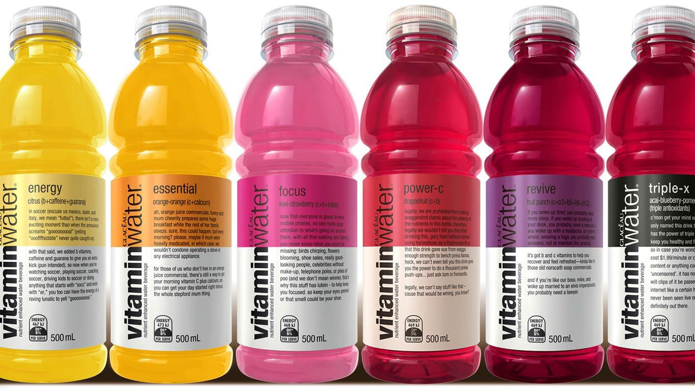 cgi-illustration-Still Life_Vitamin water bottles