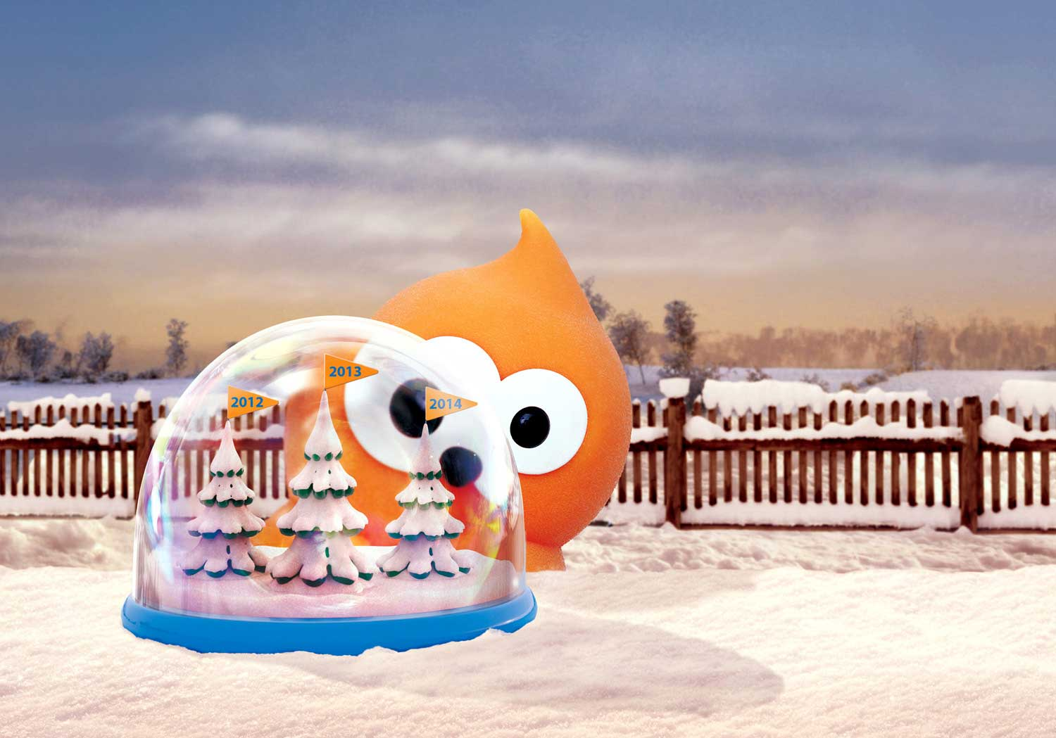 cgi-illustration-zingy character on snowy landscape