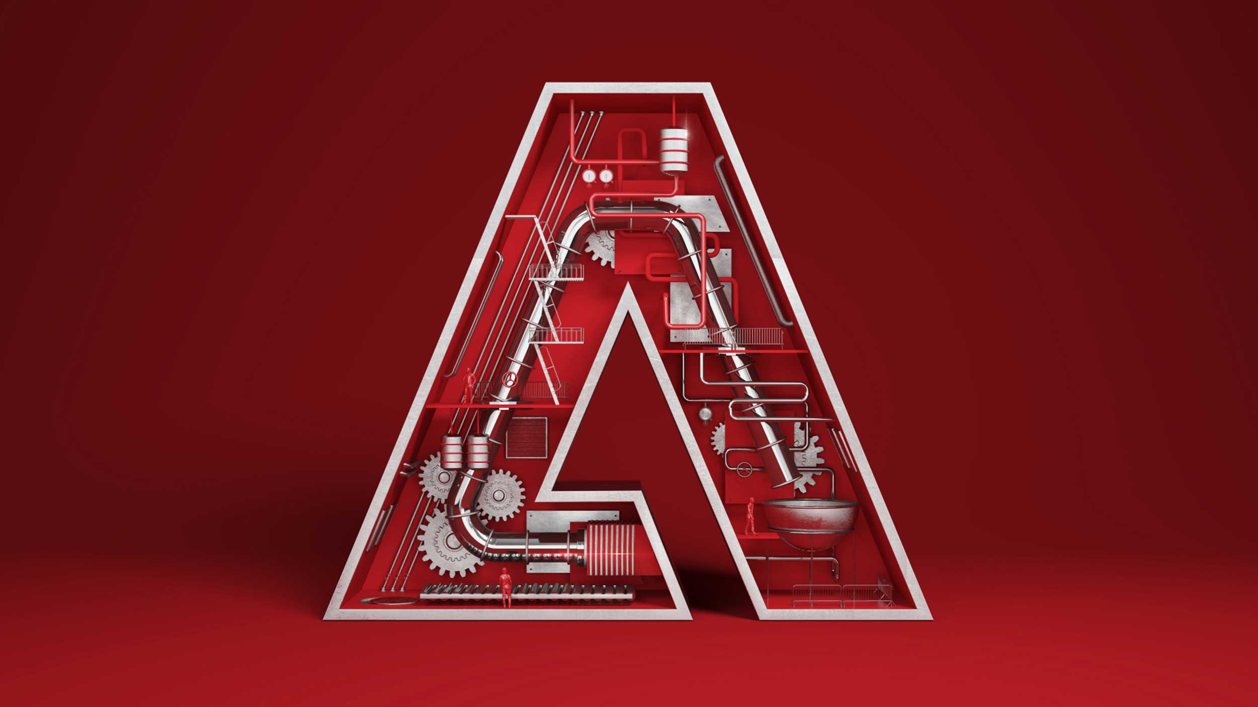 cgi-logos-type-design-Red-and-Silver-see-through-A-with-mechanics--Nico Castro