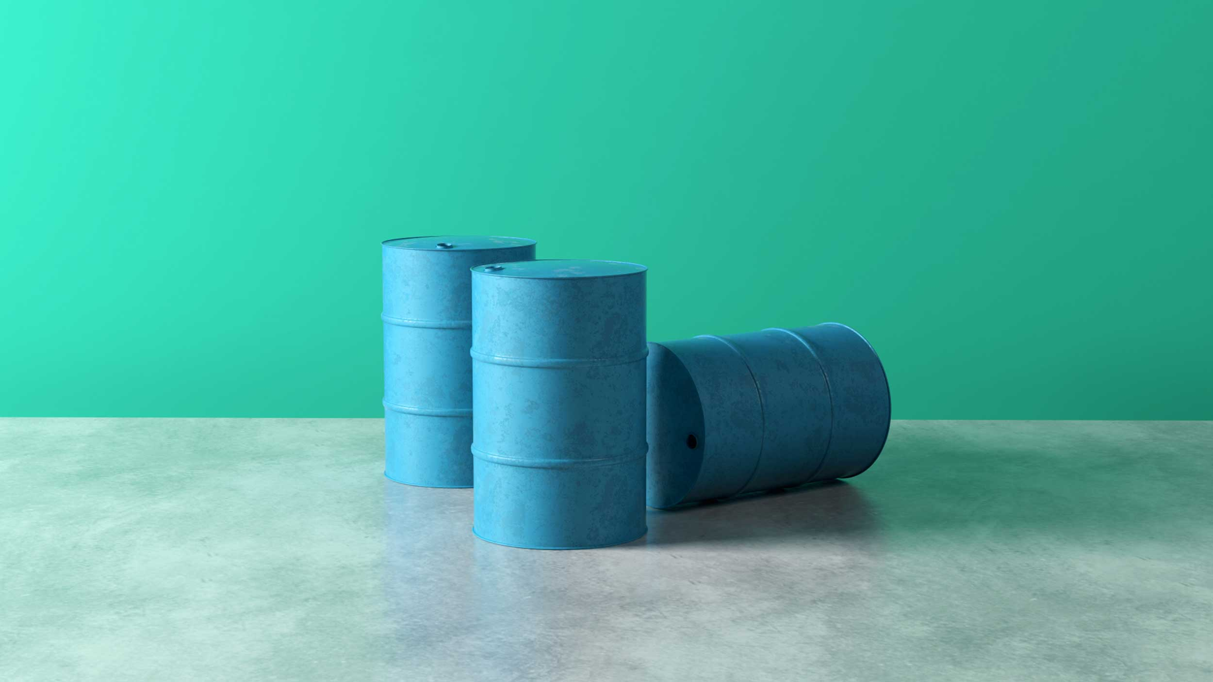 cgi-product-3-blue-barrels-in-front-of-an-aqua-wall-Nico Castro