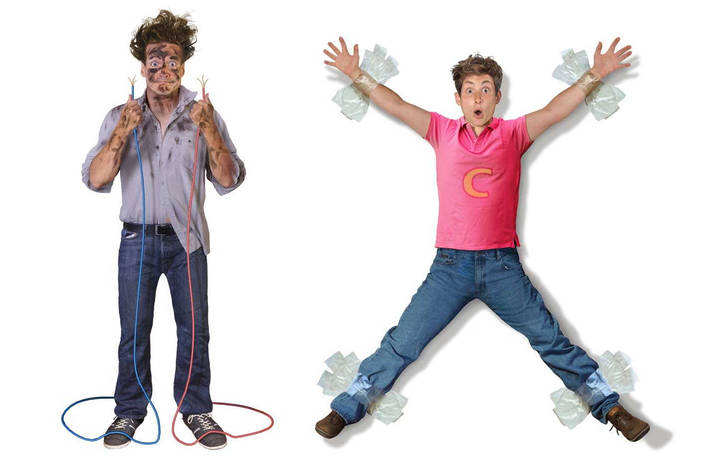 cgi-rendered-people-electricuted man holding wires and man taped against wall