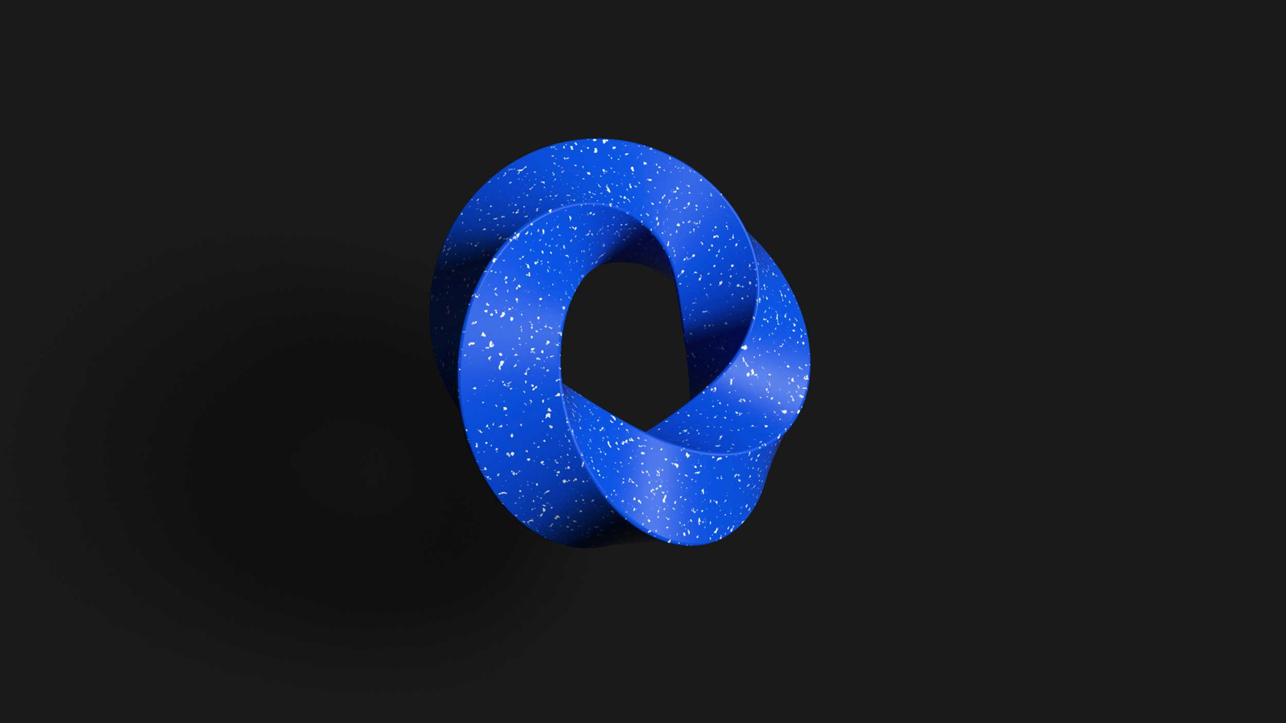 cgi-textured-shapes-blue-specked-plastic-twisted-logo-Nico Castro