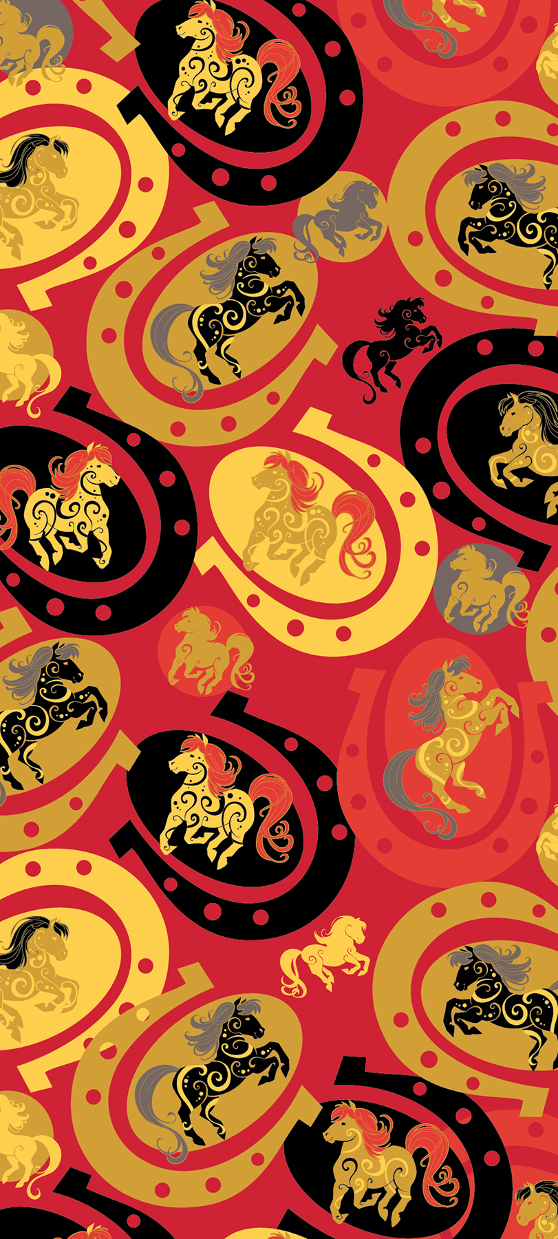 decorative_show_horses_in_horseshoe_pattern
