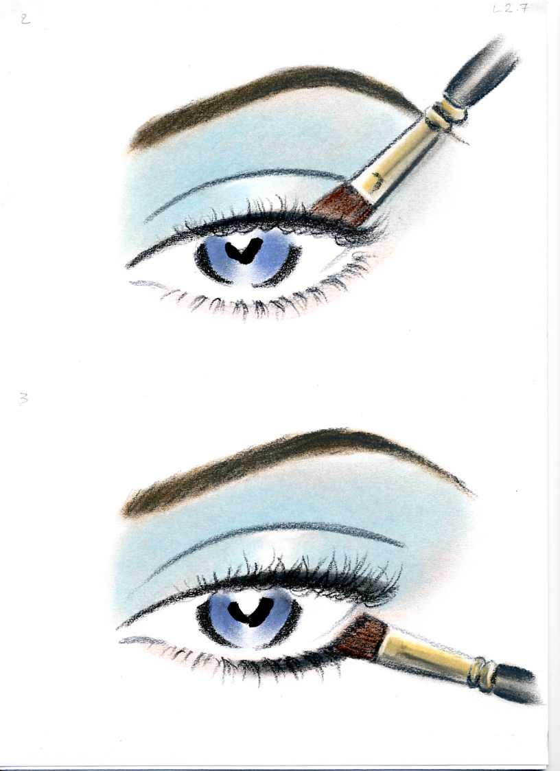 female-illustration-beauty-style-Fashion-Blue Eye Shadow-annie-france-giroud