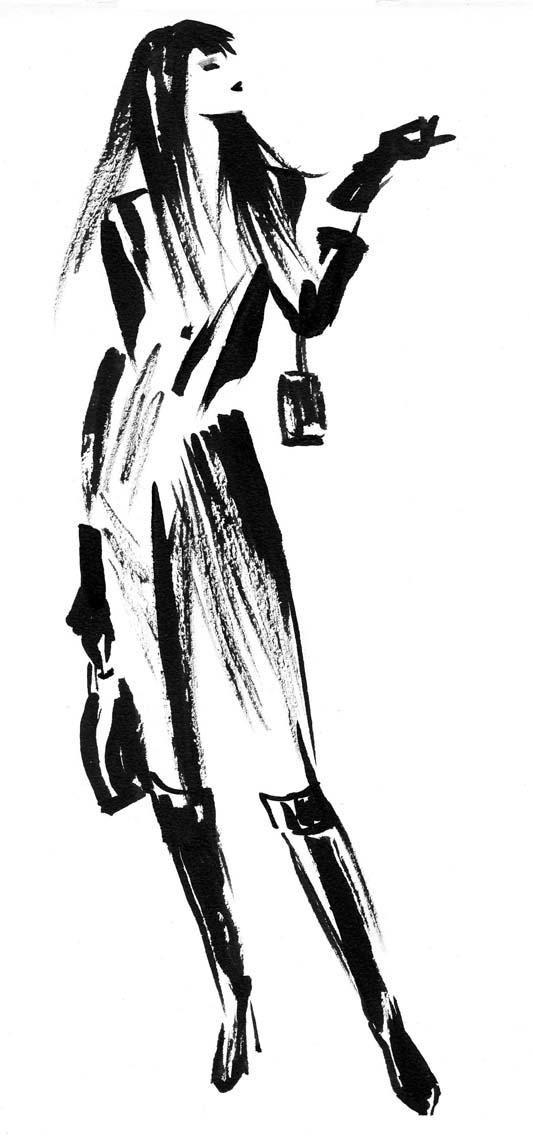 illustration-beauty-style-Fashion-Boots-and-Trench-Coat