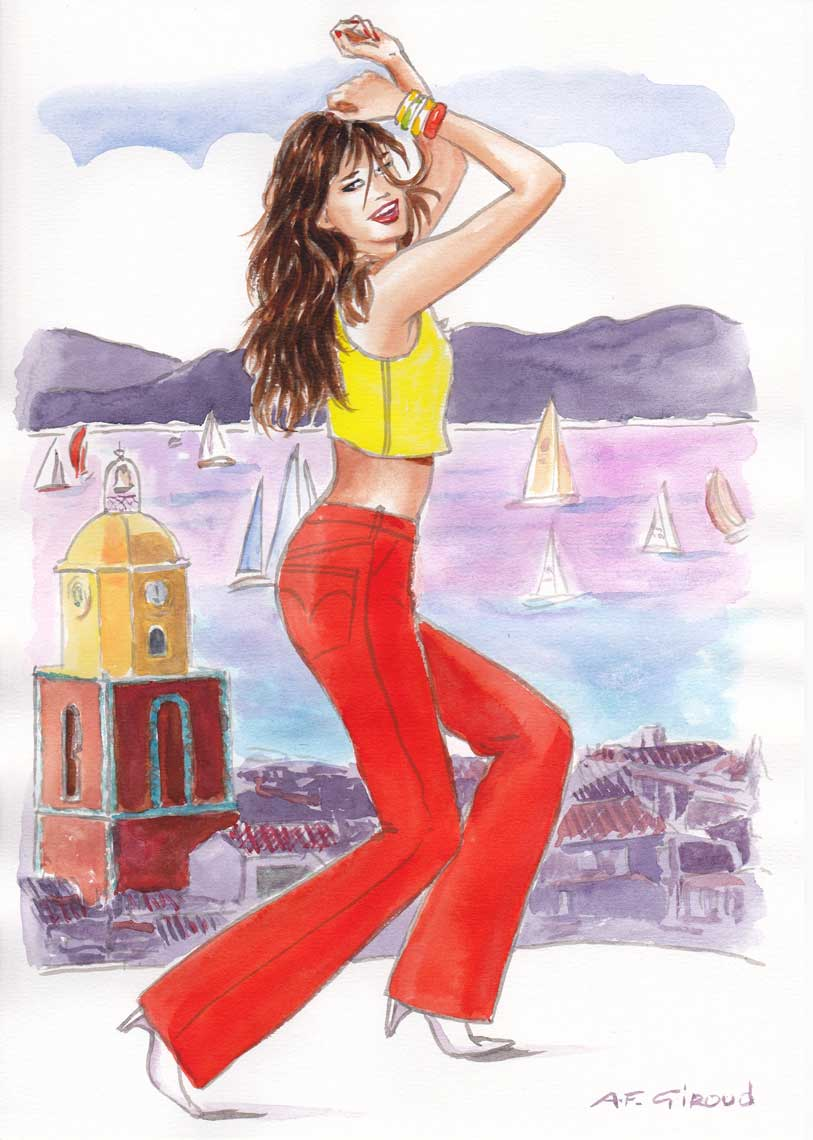 illustration-beauty-style-Fashion-Dancing-Girl