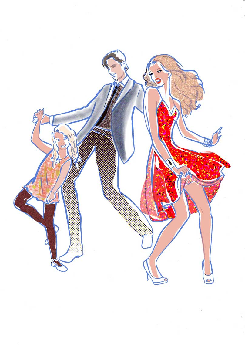 female-illustration-beauty-style-Fashion-Family-Dancing-annie-france-giroud