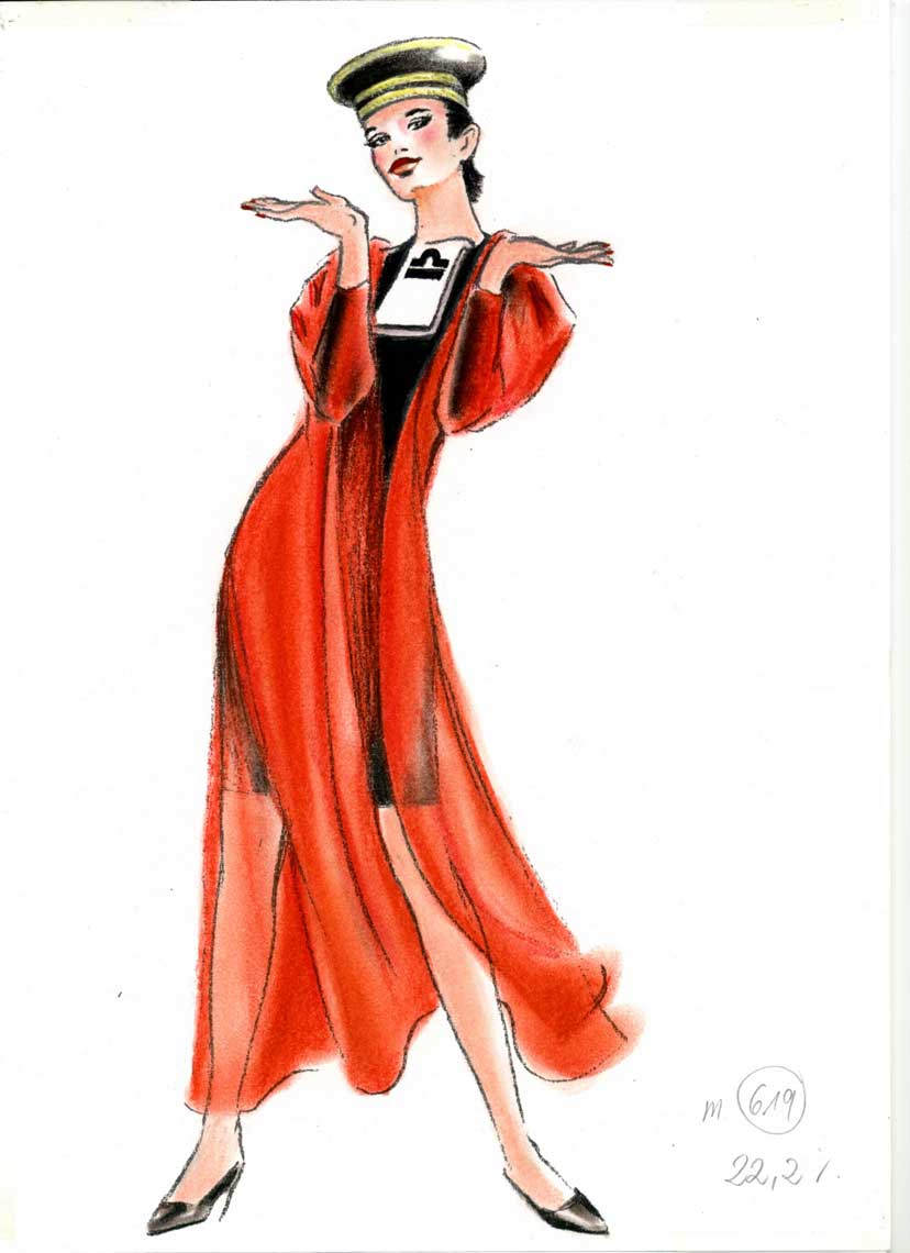 female-illustration-beauty-style-Fashion-Red-Cloak-annie-france-giroud