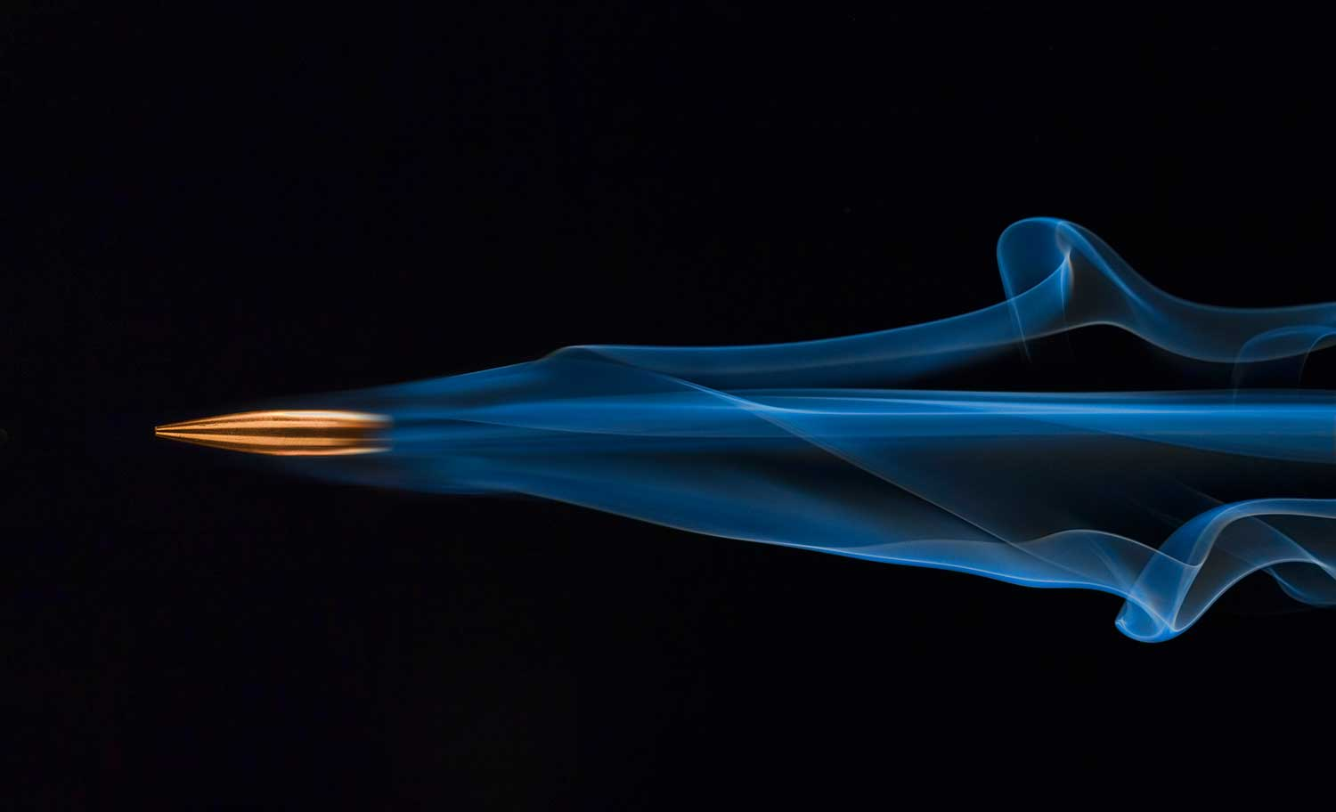 flying smoking bullet with motion