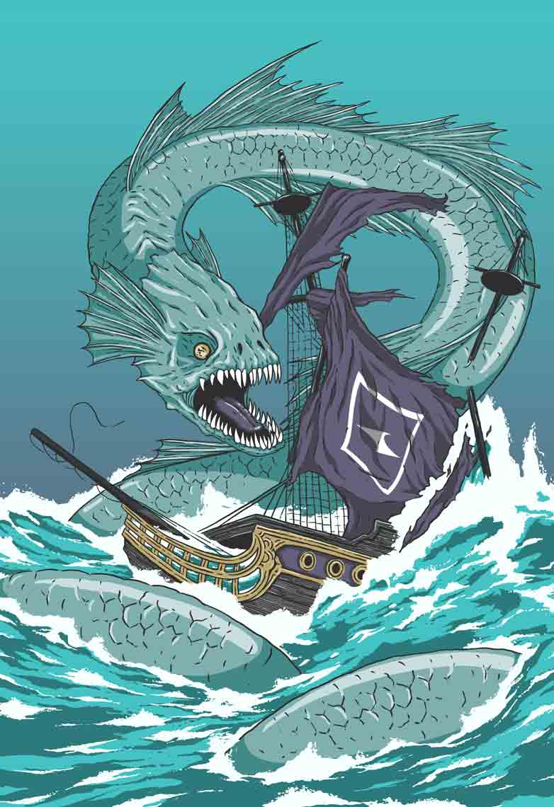 giant-sea-serpent-attacking-sailing-galleon