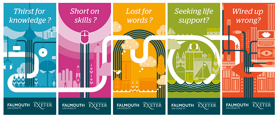 graphic map of city falmouth with building icons vector