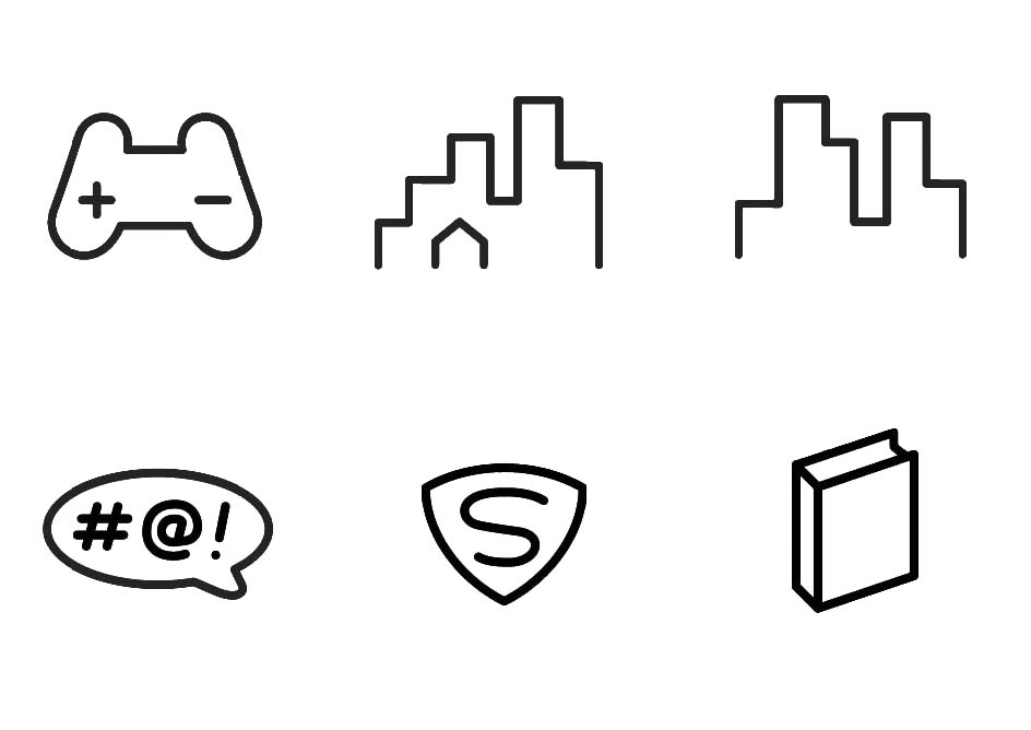 graphic vector line icons_controller-building-#@-superman