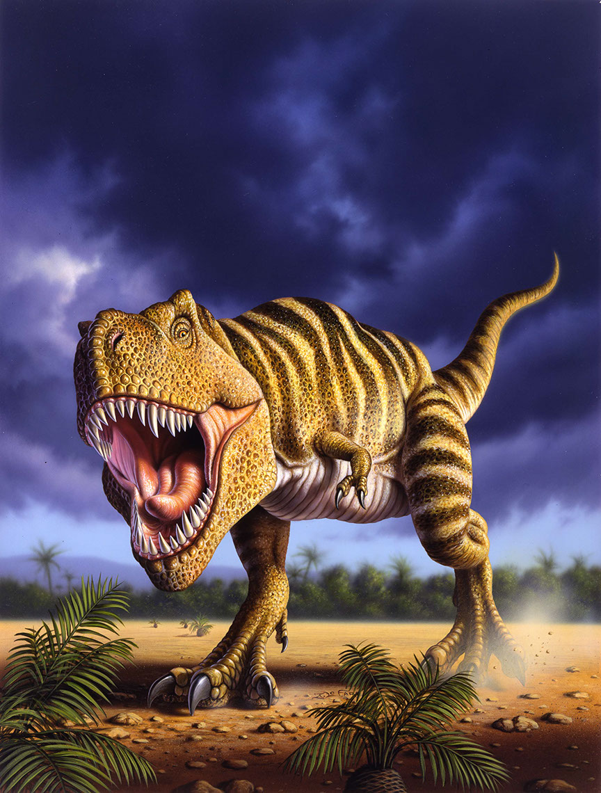 illustration-Animals_T rex-Jerry LoFaro