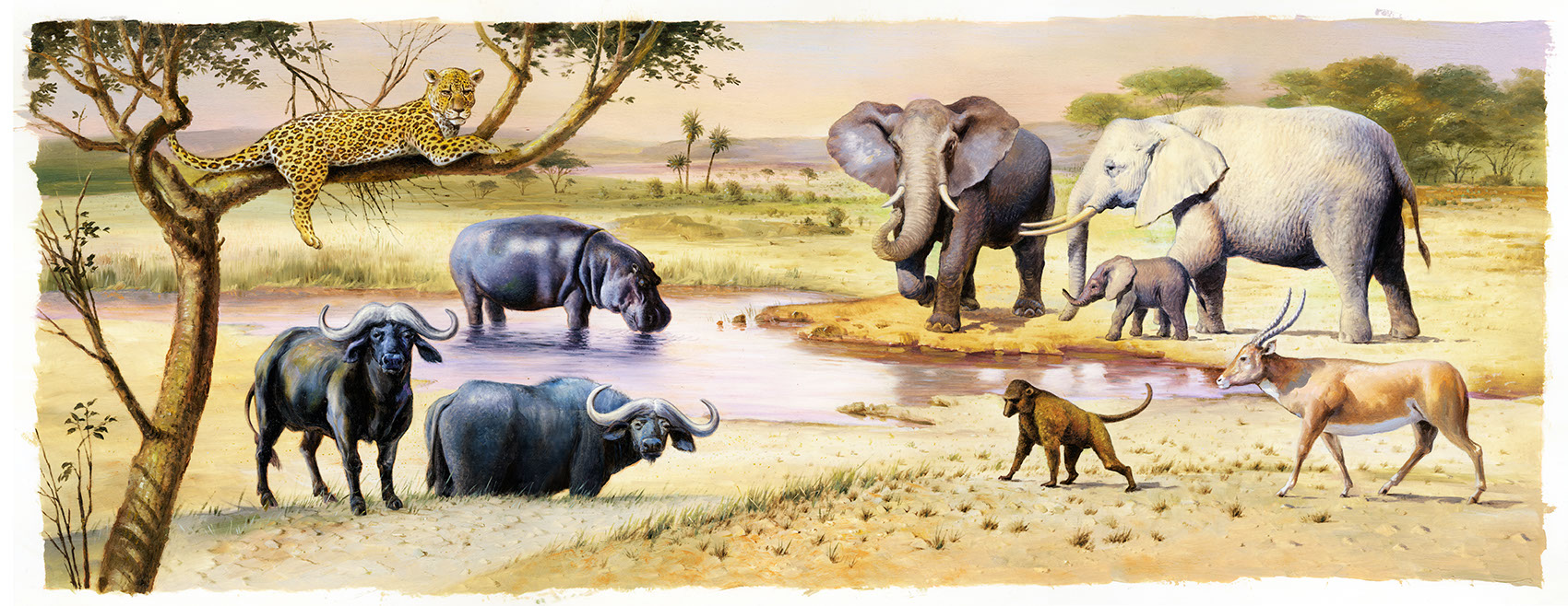 illustration-Animals and Nature_African nature scene-Mike Jaroszko