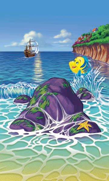 illustration-Animals and Nature_Flounder on the shore-Shawn McKelvey