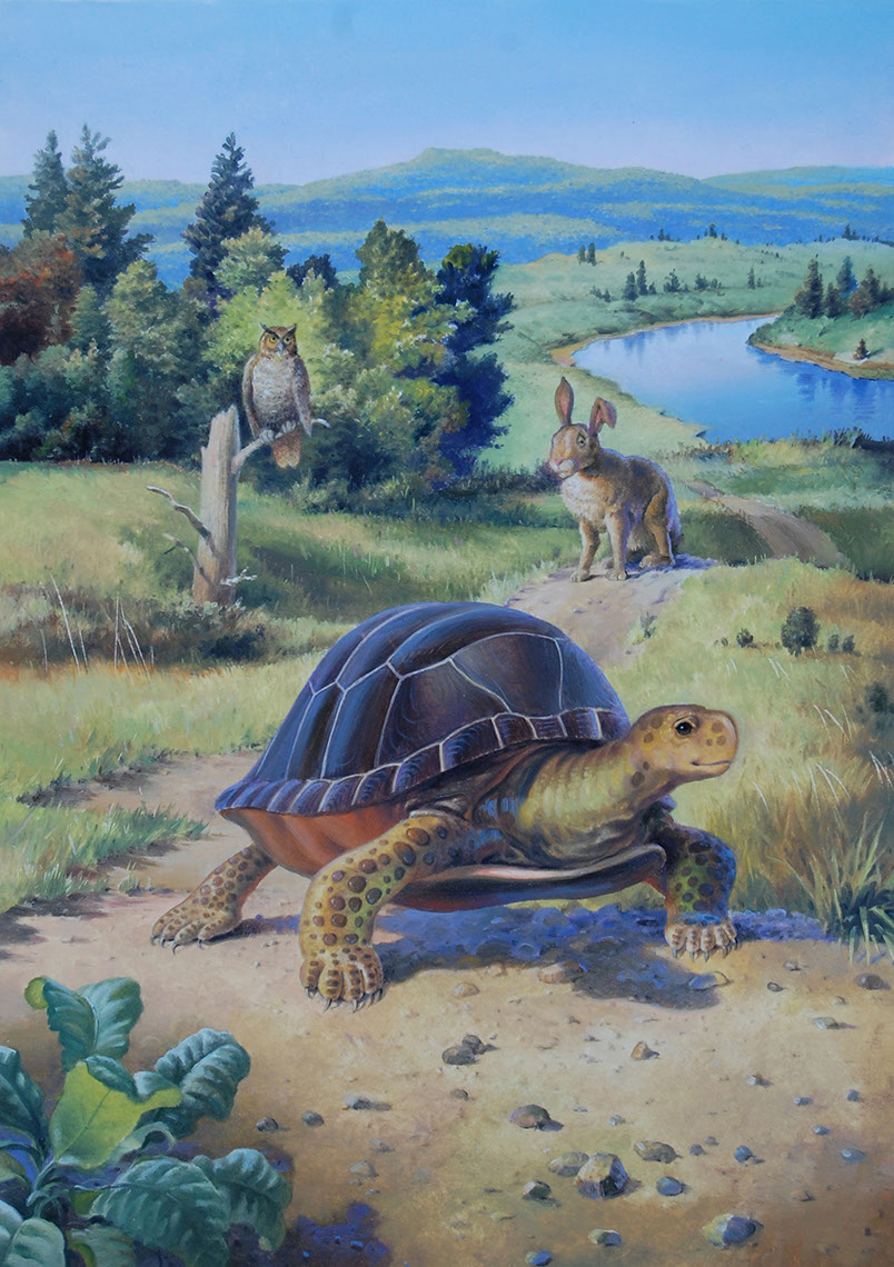 illustration-Animals and Nature_Turtle vs Hare-Mike Jaroszko