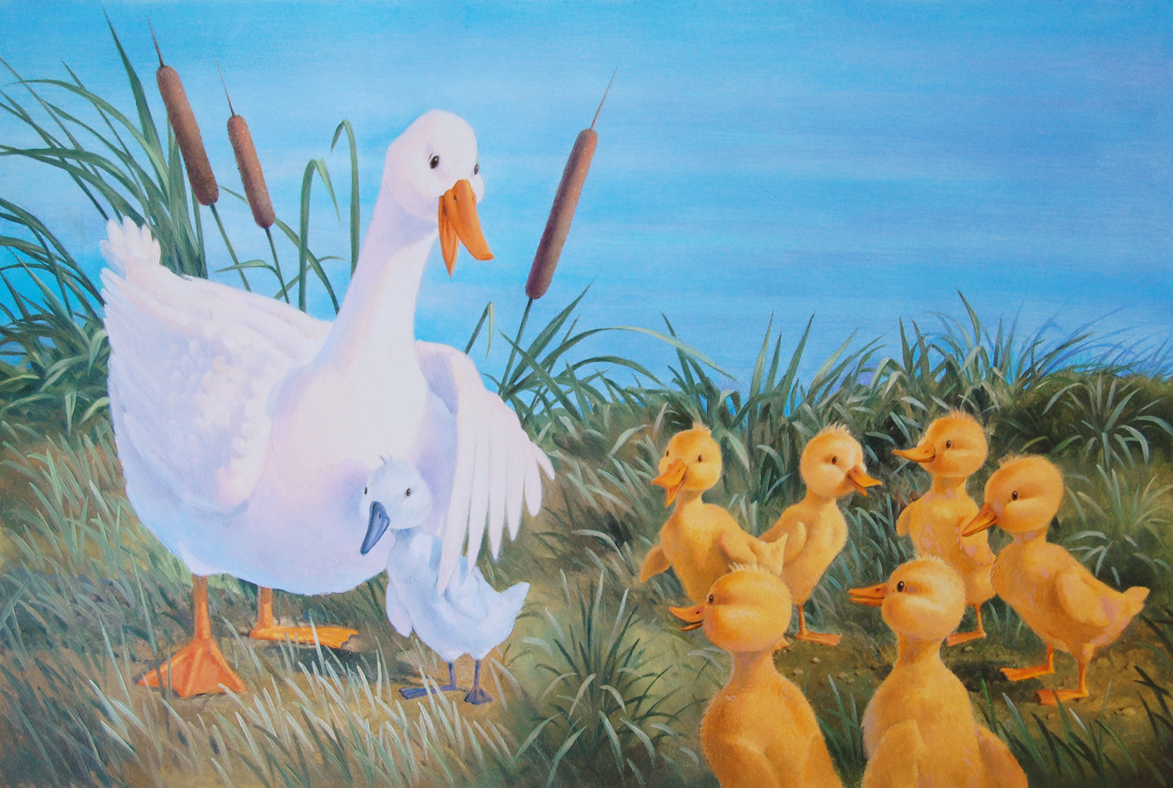 illustration-Animals and Nature_ducklings-Mike Jaroszko