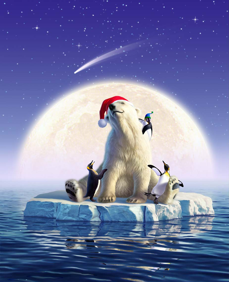 illustration-Animated_Animals_JL-Polar Bear-Jerry LoFaro
