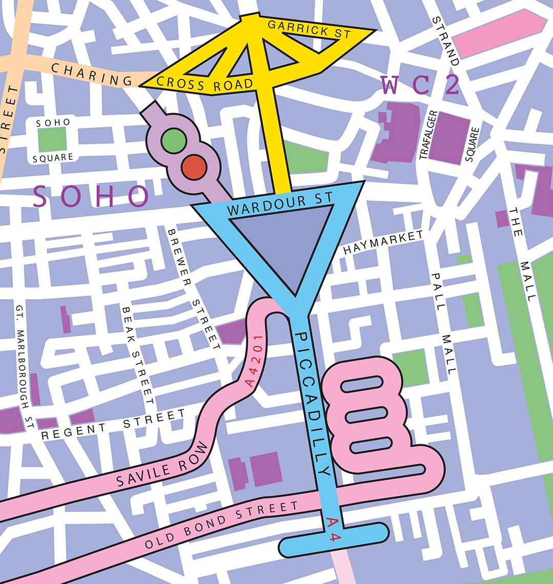 illustration-Architecture_Drink map of SoHO-Jon Rogers