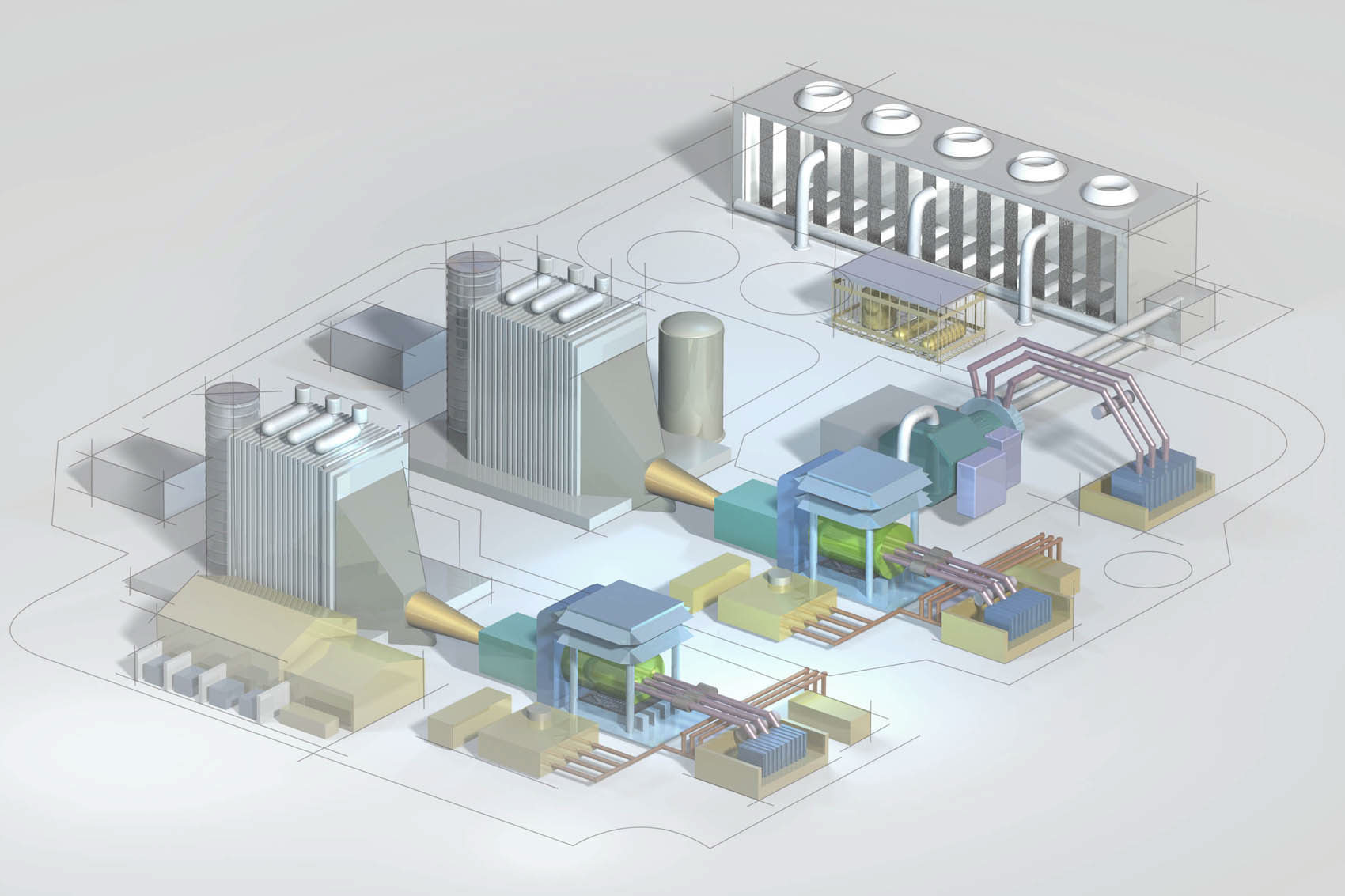 Blueprint of power plant