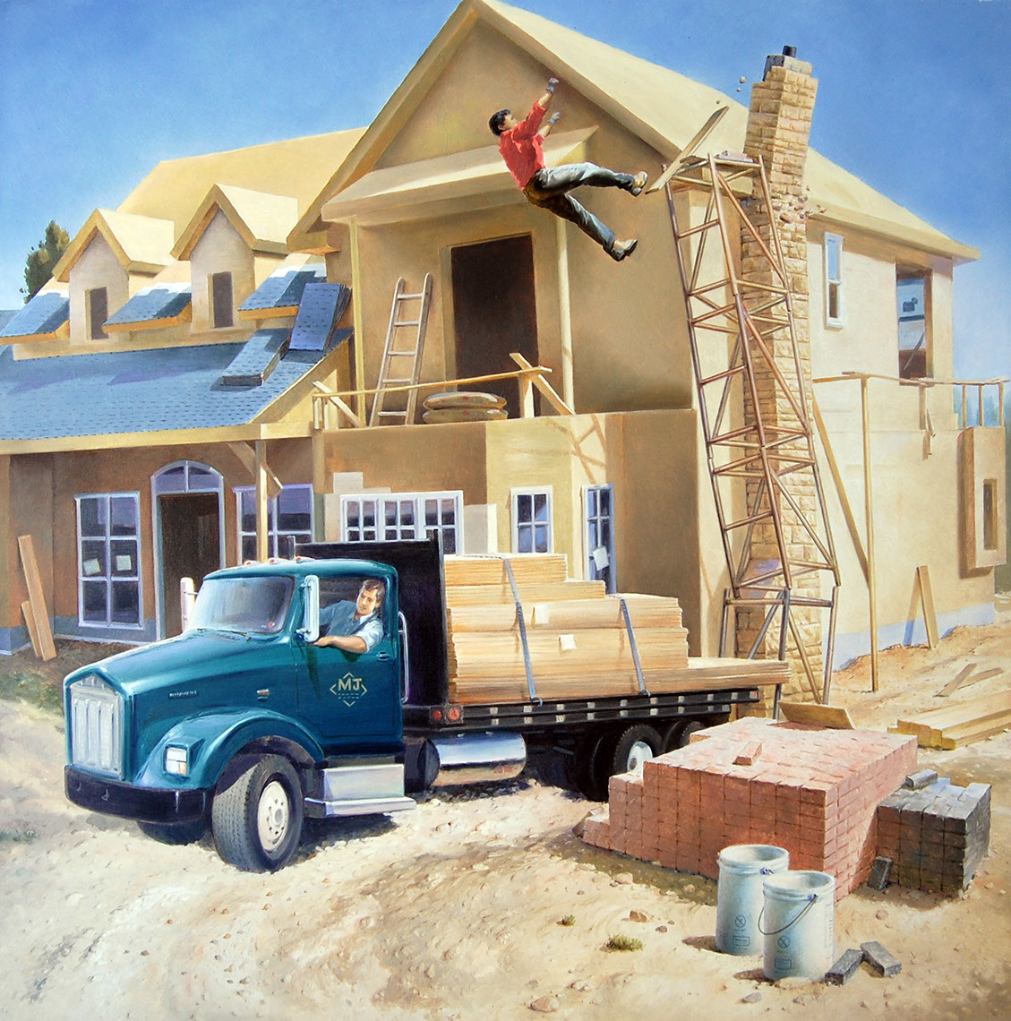 illustration-Architecture and Maps_Building a house-Mike Jaroszko