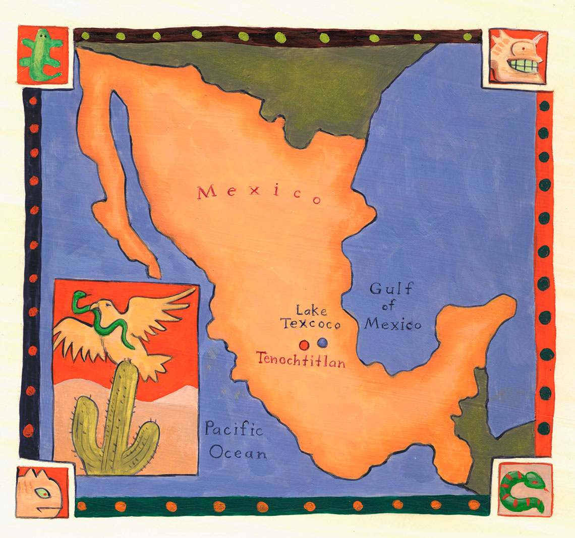 illustration-Architecture and Maps_Mexico-Mike Jaroszko