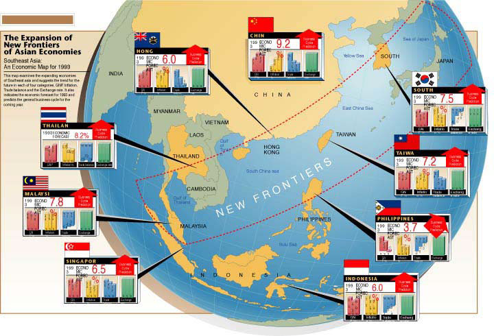illustration-Architecture and Maps_The expansion of new frontiers of asian economies-Matt Zang