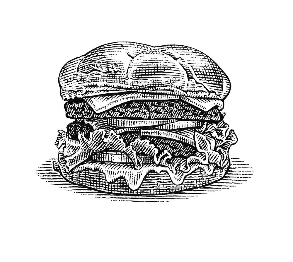 illustration-Burger-by-Dave Hopkins