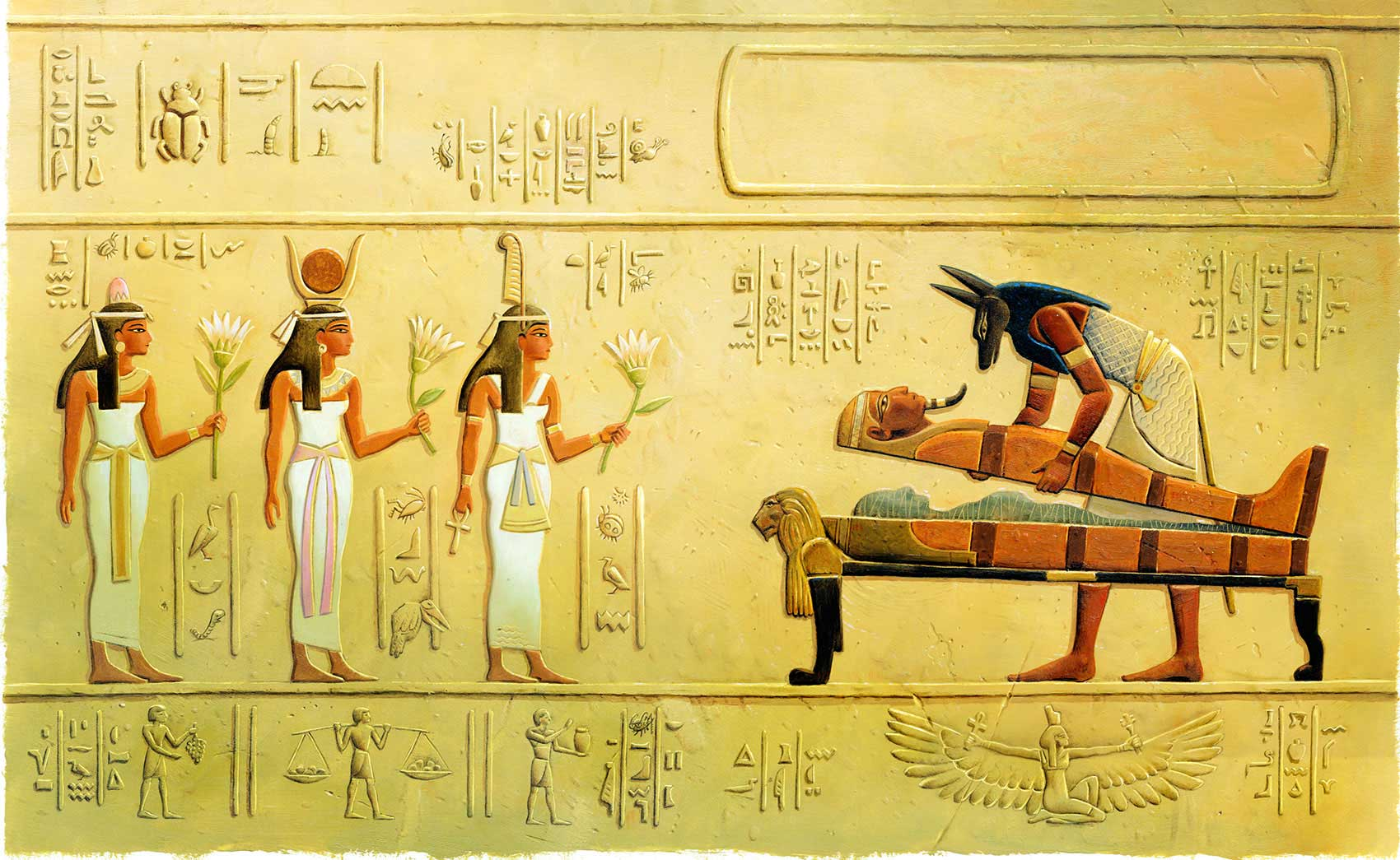 illustration-Cartoons-and-Characters_Egyptians-in-Hieroglyphics-2-Mike-Jaroszko