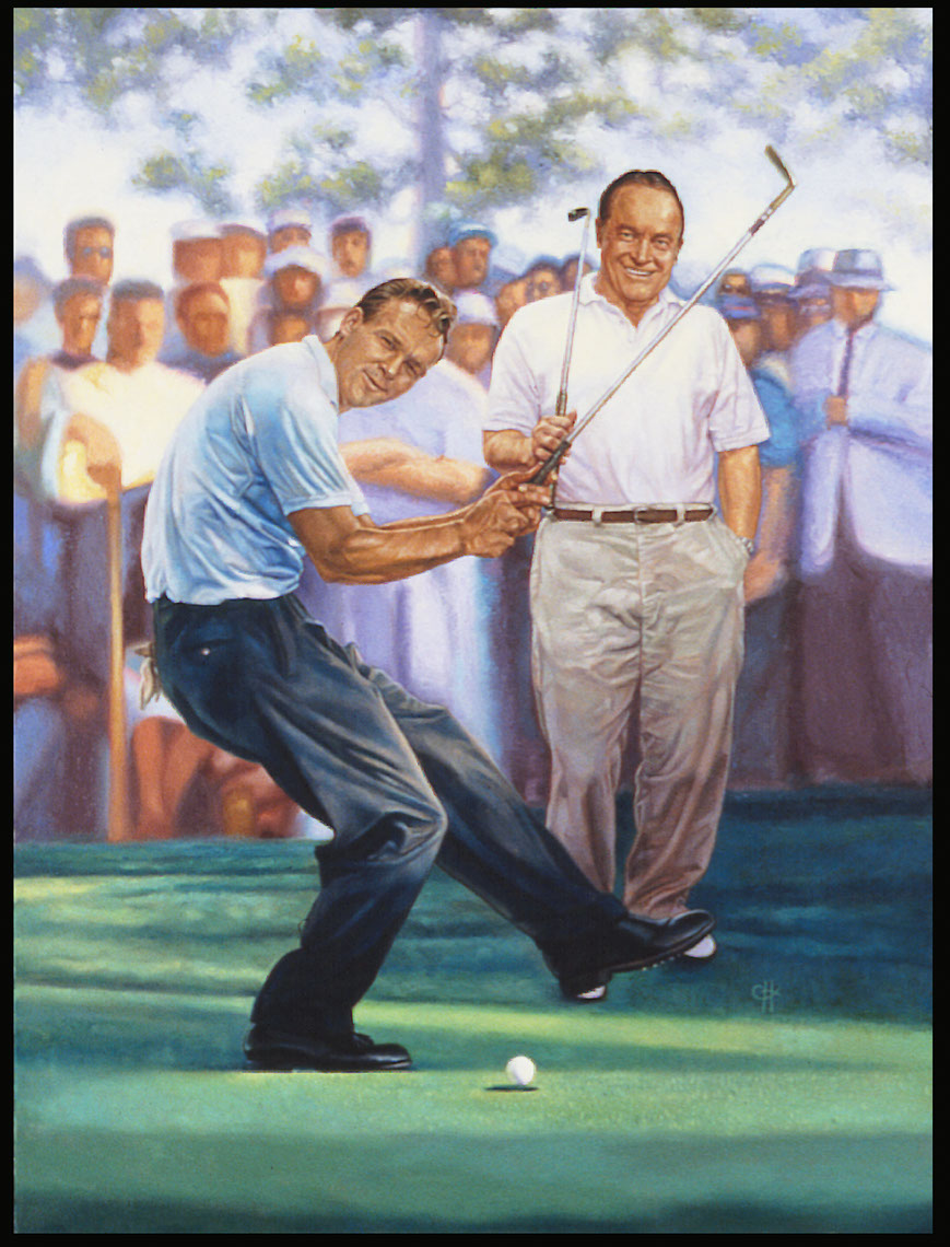 illustration-Cartoons_Arnold palmer and bob hope-Chris Hopkins