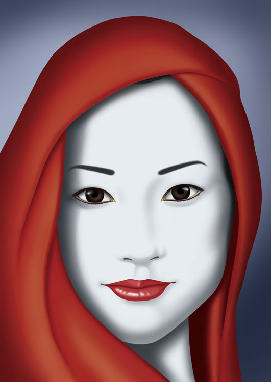 illustration-Cartoons_Asian woman-Keith Batcheller