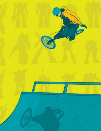 illustration-Cartoons_BMX Air-Jib Hunt