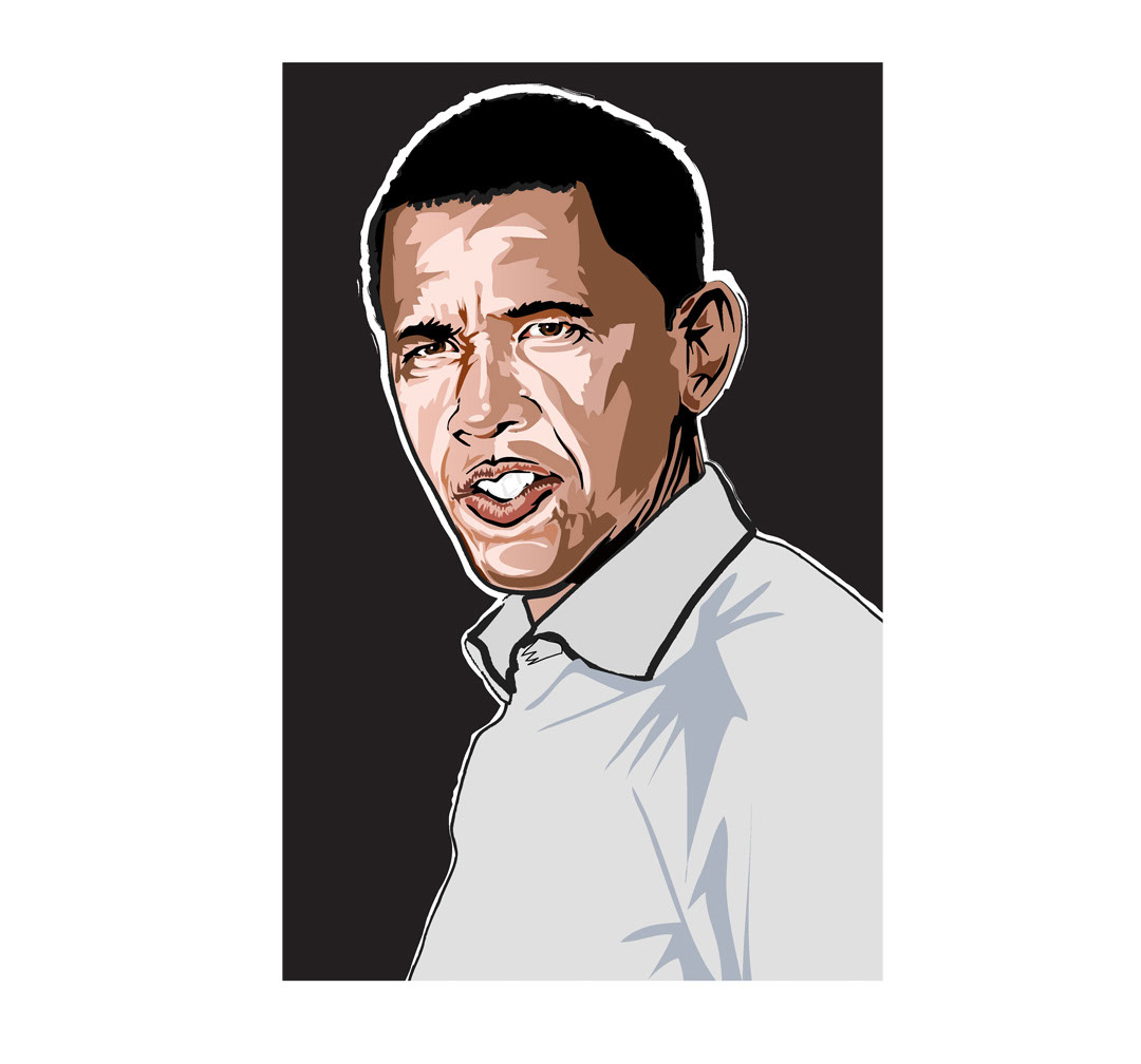 illustration-Cartoons_Barack Obama-Jon Rogers