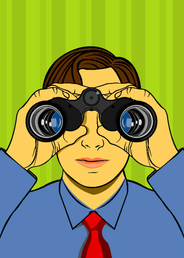 illustration-Cartoons_Binocular guy-Jib Hunt