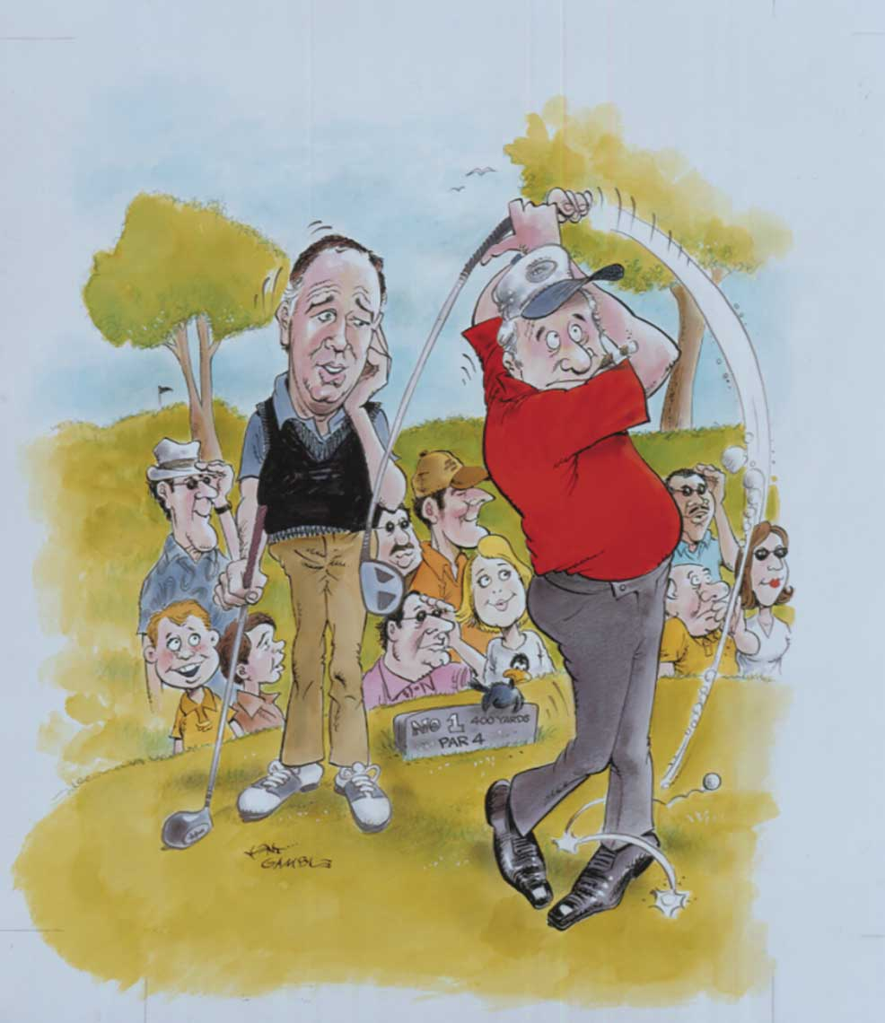 illustration-Cartoons_Golf-Player-Kent Gamble