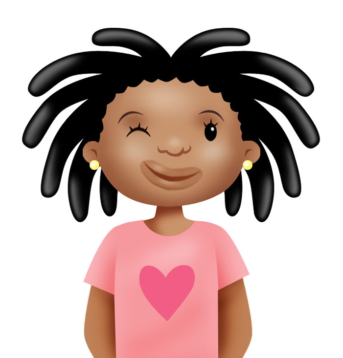 illustration-Cartoons_Little girl with dreadlocks-Marc Mones